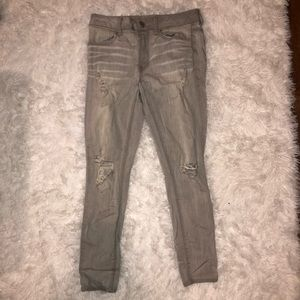 American Eagle gray mid-rise jegging ankle